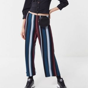 Striped Soft-Knit Cropped Pants, NWT